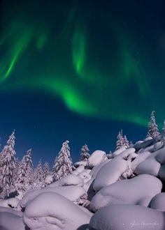 Aurora Borealis on Yakutia, #Siberia, #Russia