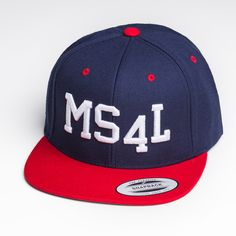 MS4L Snapback Cap im Navy/Red Style