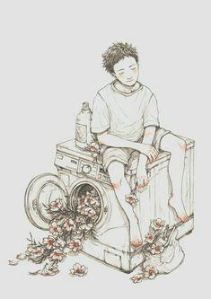 Angústia, tristeza e melancolia, deviam ser feito manchas em  roupa suja... Botou na máquina, lavou, saiu, limpou.  E. Silva