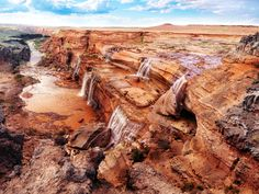 Grand Falls of the Little Colorado River, formed when a lava flow from Merriam Crater blocked the river valley.