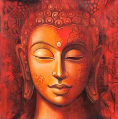 Lord Buddha Art Paintings for Sale, Buddha Oil Paintings on Canvas Online Art Paintings For Sale, Indian Art Paintings, Animal Paintings, Oil Paintings, Budha Painting, Human Painting, Painting Art, Buddha Canvas, Buddha Art