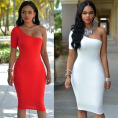 Hot y club single sleeve dress above-knee mini tight summer one-shoulder dress with low price Alternative Measures