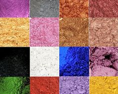 Cosmetic Mica Natural Pigment Powder For Soap Sample Set or Oz, Matte & Pearl Blue Brown Green Lavender Metallic Pink Purple Red Yellow Knitted Baby Cardigan, Hand Knitted Sweaters, Sewing Patterns, Crochet Patterns, Sewing Stitches, Embroidery Stitches, Purple Red Color, Colored Bubbles, Pigment Powder