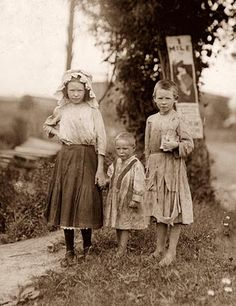 This picture was taken in 1911, and shows children who work in a Virginia Cotton Mill.