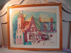 Watercolor  Artist Brother Mel-Wiscasset, Maine  GVS by morethanjustcolor on Etsy