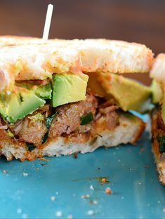 Spiced Pulled Pork and Avocado Sandwich Recipe