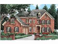 European House Plan with 3324 Square Feet and 5 Bedrooms from Dream Home Source | House Plan Code DHSW53524