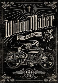 Widow Maker Motorcycles poster