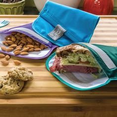 ditch the ziplock bag habit! Chicobag reusable sandwich and snack baggies are a great eco friendly alternative.