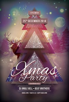 Xmas Party Flyer Template by styleWish (Download PSD file - $6)