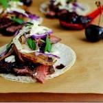 Steak Tacos with Chipotle Cherry Salsa