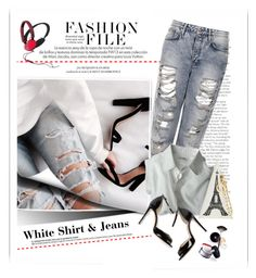 """""""White Shirt n Jeans"""" by emcf3548 ❤ liked on Polyvore featuring Topshop, Louis Vuitton, Garance Doré, women's clothing, women, female, woman, misses and juniors"""