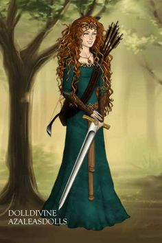 I AM MERIDA ~ by katherineriddle ~ created using the LotR Hobbit doll maker | DollDivine.com