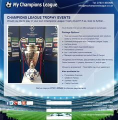 A simple one page 'business card' type Website at www.mychampionsleague.co.uk