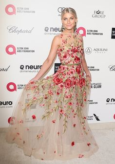 Julianne Hough in a whimsical floral by Naeem Khan   Oscars 2015 Afterparty Dresses   POPSUGAR Fashion