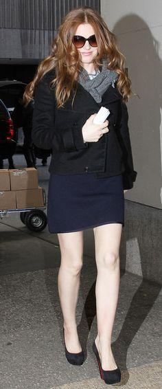 765c57ffa Isla Fisher Flaunting her Milky Legs.