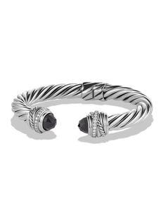 Y1URY David Yurman Crossover Bracelet with Black Onyx and Diamonds