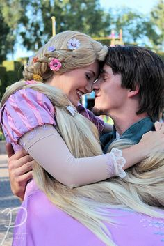Tangled | Totally fangirling right now. Rapunzel and Eugene have got to be the cutest couple in all of Disney World.