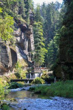 Bohemian Switzerland: Hiking Tour to Pravcicka Brana Hiking Routes, Hiking Trails, Switzerland Tour, Russian Landscape, Boat Tours, Travel List, Landscape Photographers, Czech Republic, Cool Photos