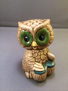 Adorable Vintage Novelty Owl Playing Bongo Conga Drums Made in Japan Figurine | eBay