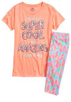 Super Cool Cropped Legging Pajama Set