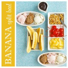 Curious George: banana split bar- great idea!!