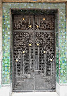 Africa | Wrought Iron Door, Casablanca © Sandra Cohen-Rose and Colin Rose