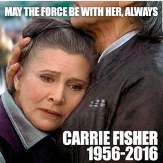RIP Carrie Fisher, best actor in Star Wars and we will mis Carrie very much. Starwars, Carrie Fisher, Star Trek, Alec Guinness, Princesa Leia, Debbie Reynolds, The Force Is Strong, Bad Feeling, Love Stars