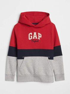 Sweatshirt in Grau/ Rot Hoodie Sweatshirts, Boys Hoodies, Kids Shirts, Gap Logo, Jogger Sweatpants, Kids Wear, Boy Outfits, Kids Fashion, Clothes