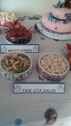 Puppy party food