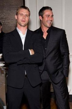 Jesse Spencer and Taylor Kinney; Casey and Severide on Chicago Fire.handsome men and great show! Lancaster, Taylor Kinney Chicago Fire, Jesse Spencer, Pennsylvania, Chicago Med, Film Serie, Good Looking Men, Famous Faces, Gorgeous Men