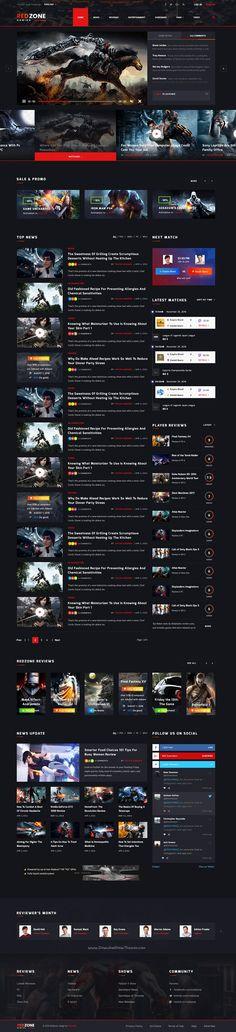 Good Games - Portal / Store HTML Gaming Template   Pinterest ...