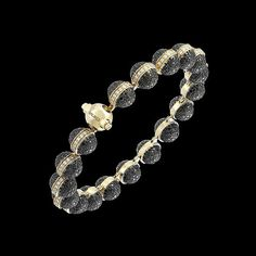 Sphera 18K Yellow Gold Black Diamond Diamond Bracelet (BR351DBDN) | Sauro