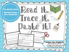 Sight Word Read it, Trace it, Paste it (Pre-Primer) product from TheMoffattGirls on TeachersNotebook.com
