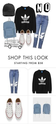"""Monday"" by irisjwang on Polyvore featuring Topshop, adidas Originals, Converse and American Apparel"