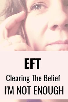 How to use EFT to release the belief that I'm not enough and all the feelings that come with that belief - Shifting to I am enough. Eft Technique, Prayer For Forgiveness, The Tapping Solution, Eft Tapping, Motivation, Enough Is Enough, Positive Affirmations, How Are You Feeling, Positivity