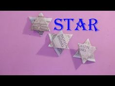 ORIGAMI $ hướng dẫn cách làm ngôi sao bằng tiền giấy money paper star easy tutorials - YouTube Ninja Star, Origami Stars, Youtube, Youtubers, Youtube Movies