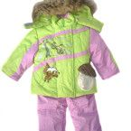 infant girl outerwear pale green-pink