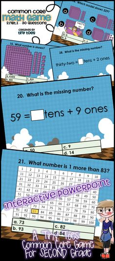 Looking for an exciting way to review 2.NBT.1 Place Value for SECOND Grade? Here it is..and in a fun, INTERACTIVE powerpoint! With 30 practice problems, your students will get lots of review. $