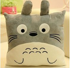 40x40cm Lovely Anime Cartoon Emoticons Totoro Plush Cushion Pillow Emoji Soft Chair Decorative Throw Pillows cojines decorativos