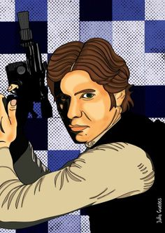 Han Solo by Julia Guedes, via Behance #artprint #starwars #hansolo #ilustration