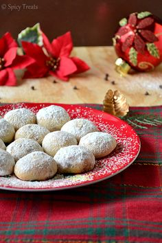 Spicy Treats: Chocolate Snowballs / Eggless Snowball Cookies - Easy Christmas Cookies