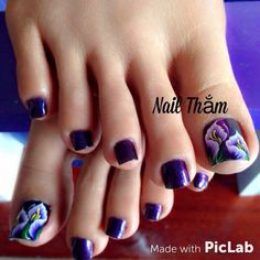 Glitter Pedicure Designs, Pedicure Nail Art, Toe Nail Art, Colorful Nail Designs, Toe Nail Designs, The Art Of Nails, Feet Nails, Pedicures, Flower Nails
