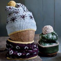 Asterisk Hat and Dot Cowl Kit - Mason-Dixon Knitting Mens Hat Knitting Pattern, Knitting Patterns, Knitting Ideas, Double Knitting, Hand Knitting, Fair Isle Knitting, Field Guide, Beautiful Patterns, Pattern Making