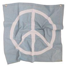 war is dumb! flag | denim *pre-order* | kawaiian lion