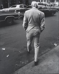 [Street Scene: Man in Pinstripe Suit, New York City] Leon Levinstein (American, Buckhannon, West Virginia 1910–1988 New York) 1970s