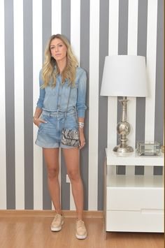Nati Vozza do Blog de Moda Glam4You usa look all jeans.