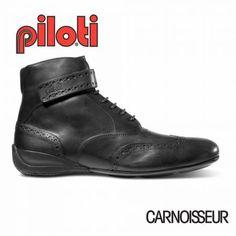 Piloti Campione Driving Shoes Black Leather Pfaff 888bcd23e
