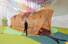 ernesto neto's experiential exhibition celebrates brazil's indigenous huni kuin tribe