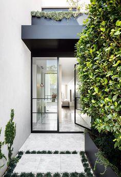 Steel Frame Doors, Home Design, Interior Design, Bungalow Renovation, Australian Homes, Coastal Homes, Classic House, Entry Doors, Entryway